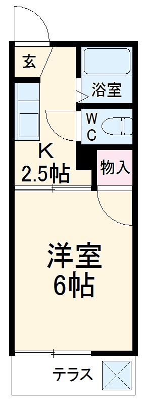 フォーブル大井田B・206号室の間取り