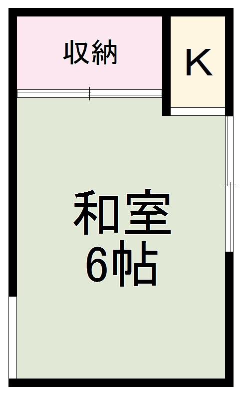 宮田荘・E1号室の間取り