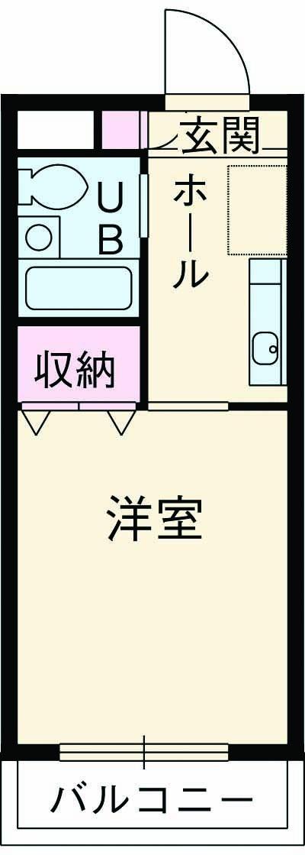エルマーノ富士見・104号室の間取り