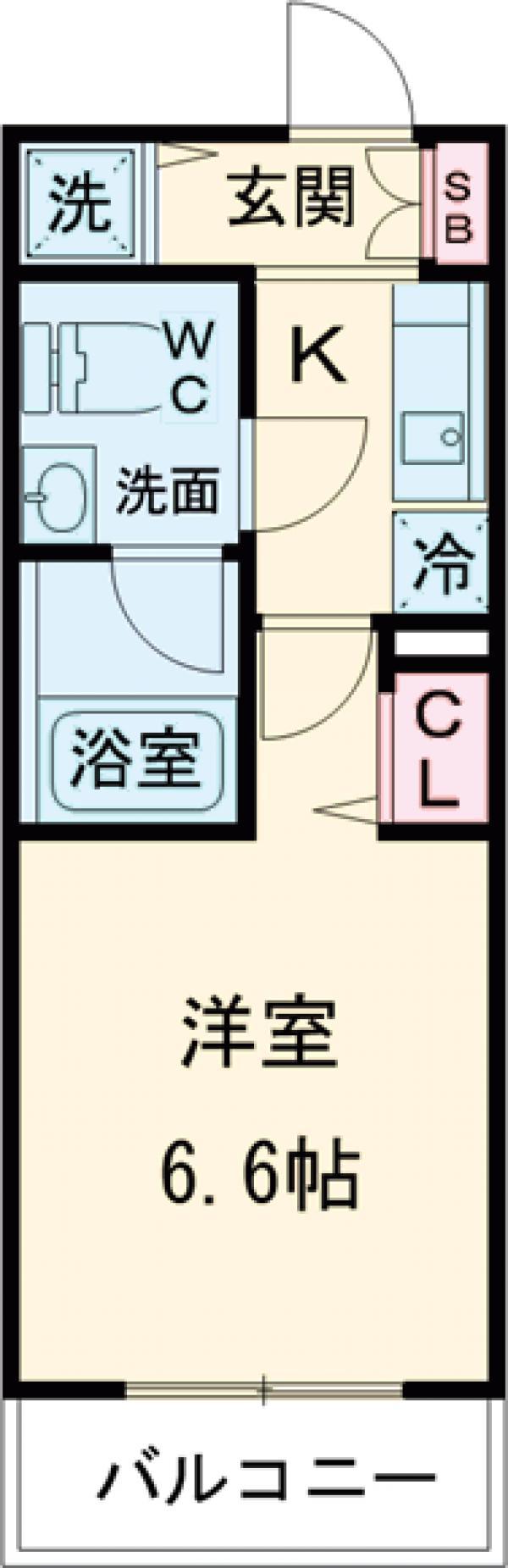 AZESTお花茶屋Ⅲ・124号室の間取り