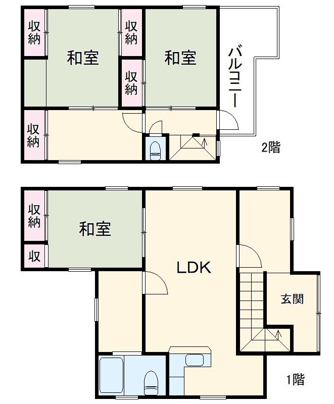 富士見町三丁目戸建・1号室の間取り