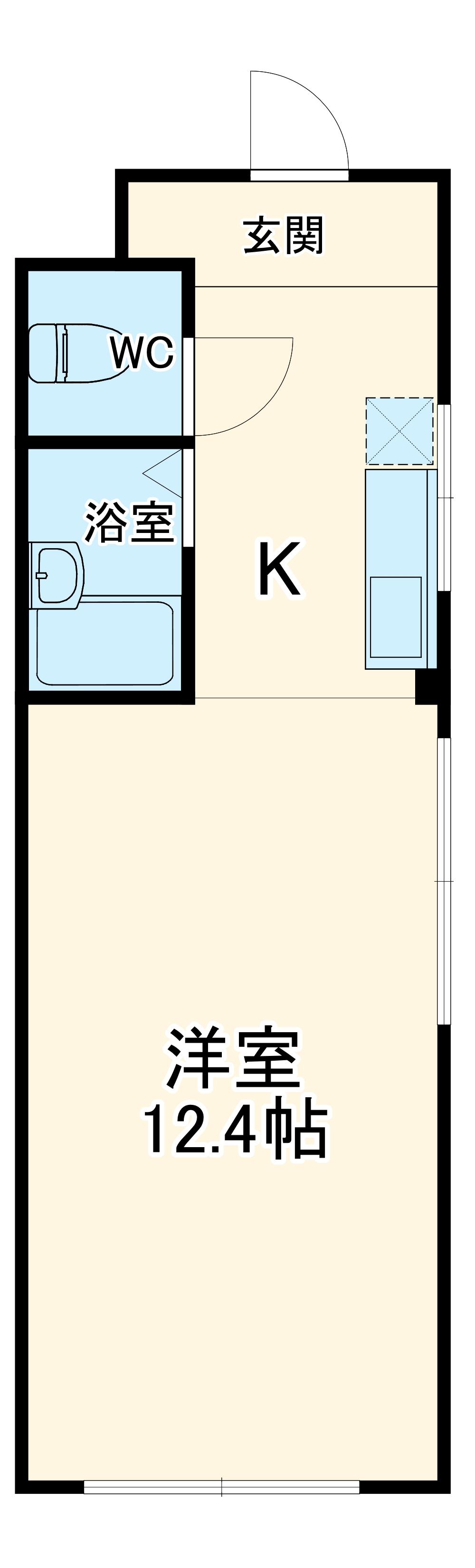 白石ビル・303号室の間取り