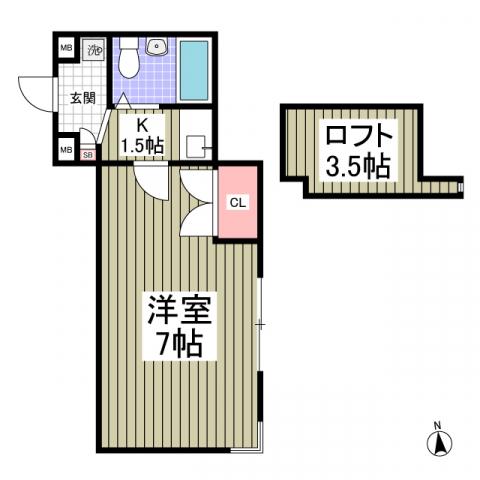 フジパレス行田壱番館・107号室の間取り