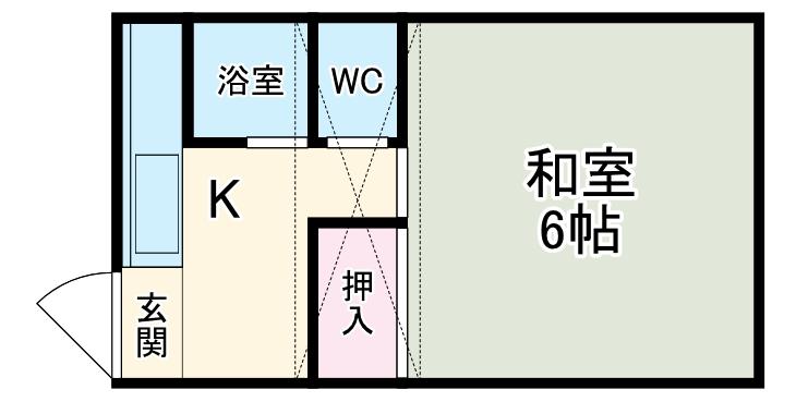 小泉アパートNo.8・17号室の間取り