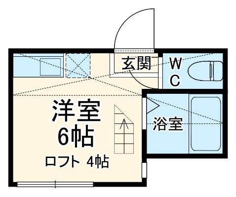 メゾンFUKAISHI浜町 102号室の間取り