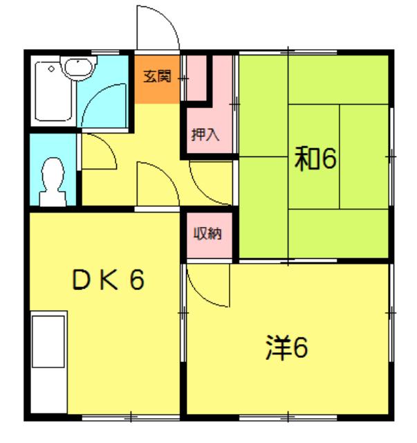 馬渕アパート・102号室の間取り