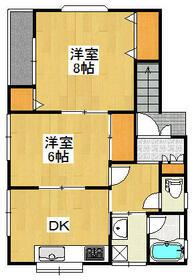 元利アパート・2F号室の間取り