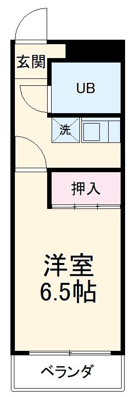 岐阜キャッスルビルB棟・1109号室の間取り
