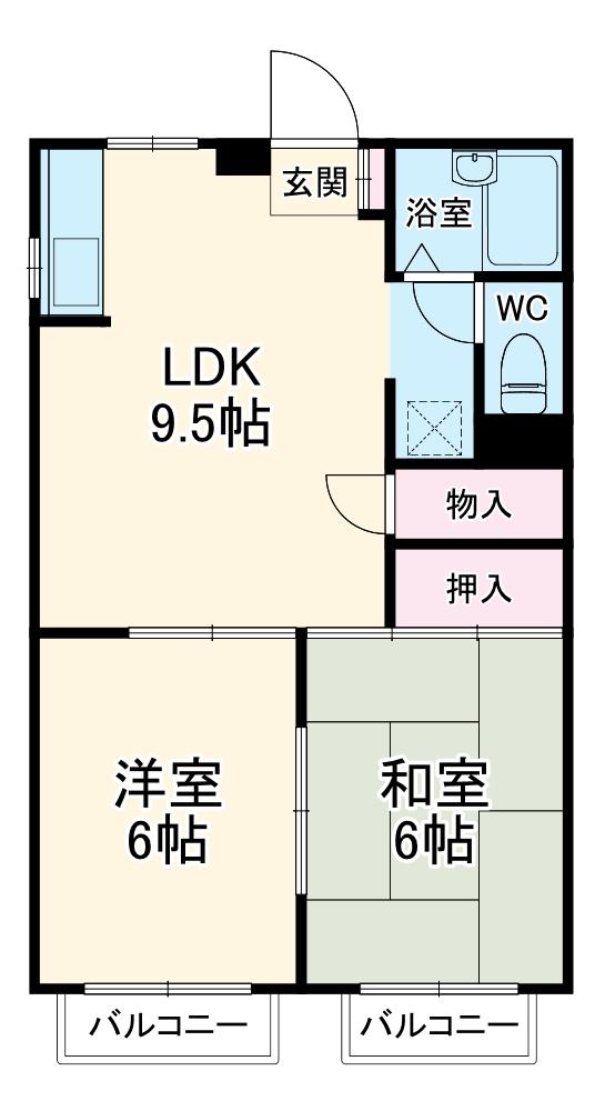 メイウール新川崎・103号室の間取り
