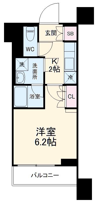 クレヴィスタ横浜・1003号室の間取り
