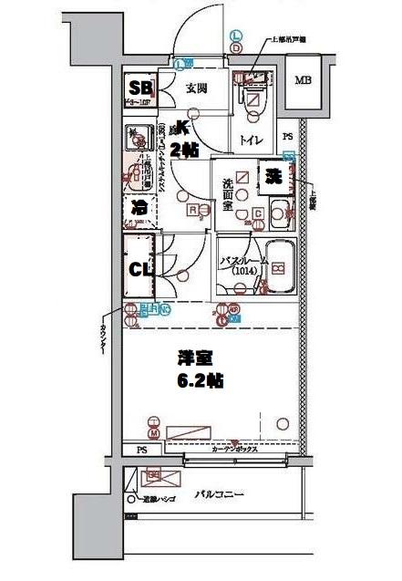 クレヴィスタ横浜・604号室の間取り
