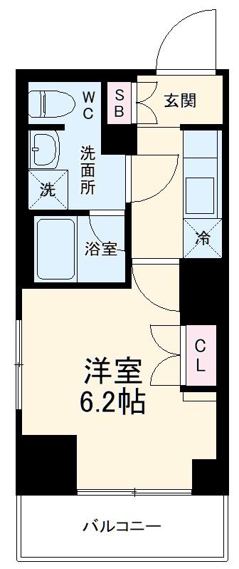 クレヴィスタ横浜・210号室の間取り