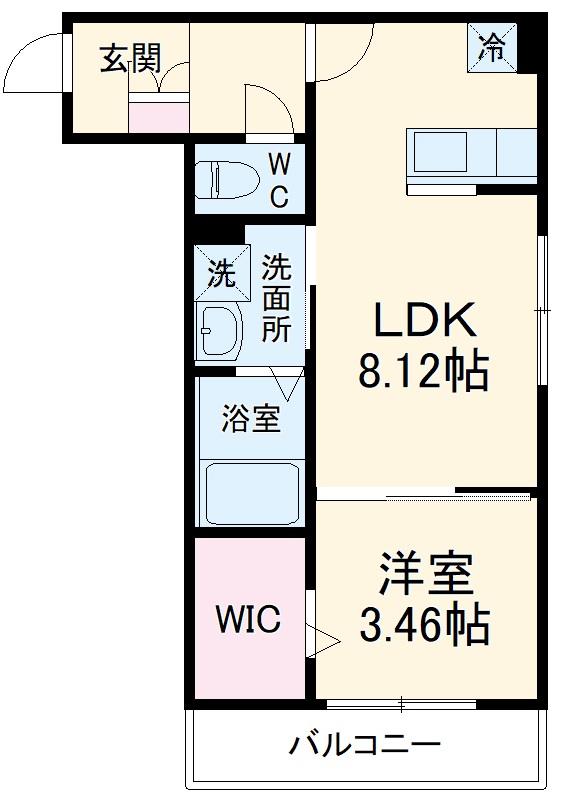 Eris新松戸・201号室の間取り