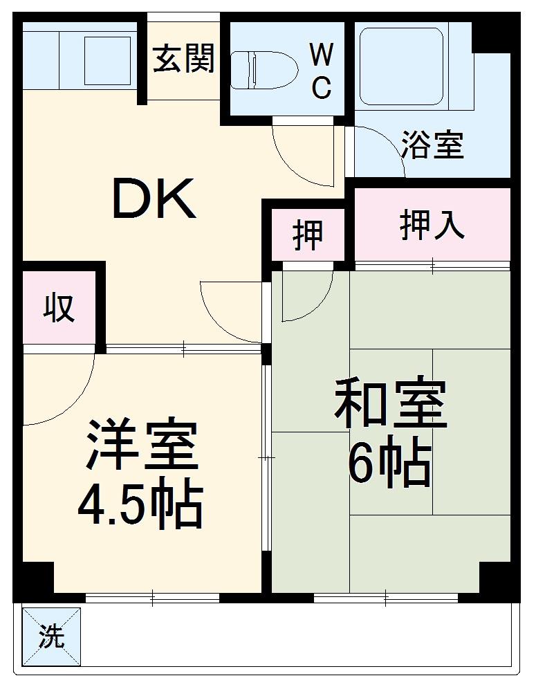 トキワダイマンション・201号室の間取り