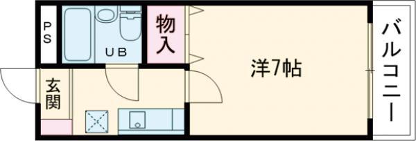 コーポ福田・106号室の間取り