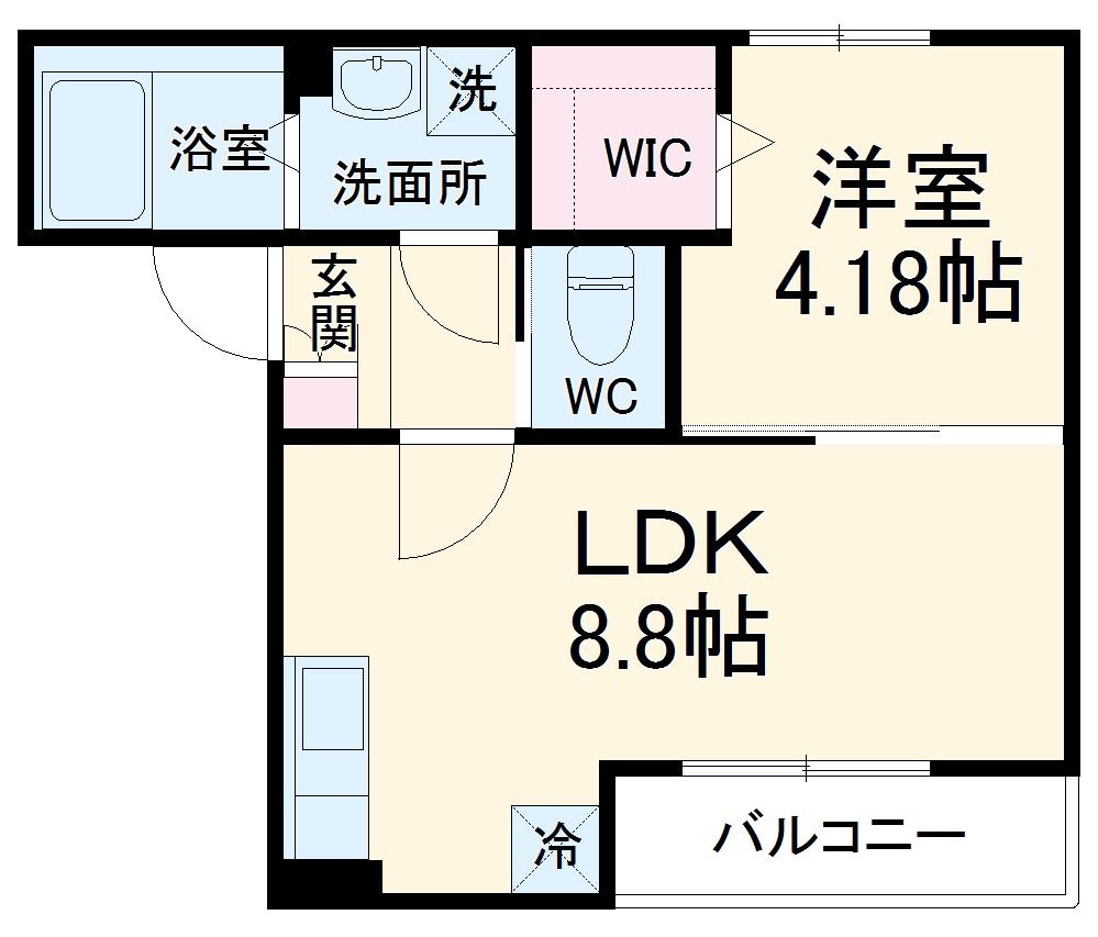 ウイルビィ新松戸・103号室の間取り