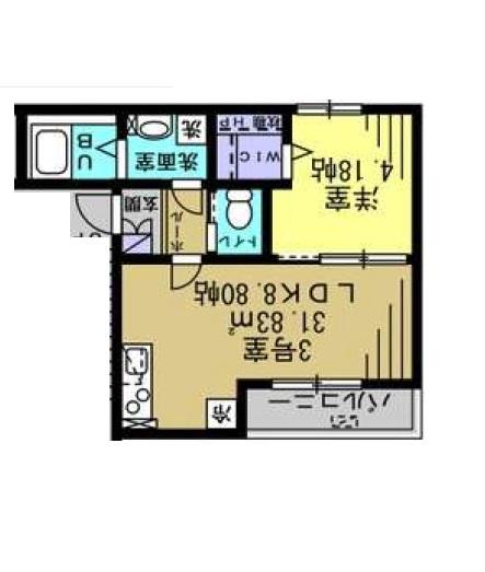 ウイルビィ新松戸・303号室の間取り