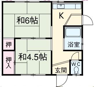 那須住宅 12号室の間取り