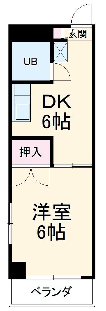レナジア桜山・307号室の間取り