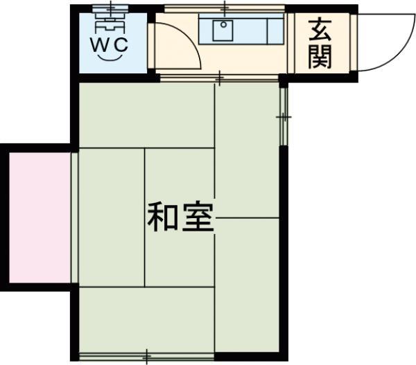 染井荘・101号室の間取り