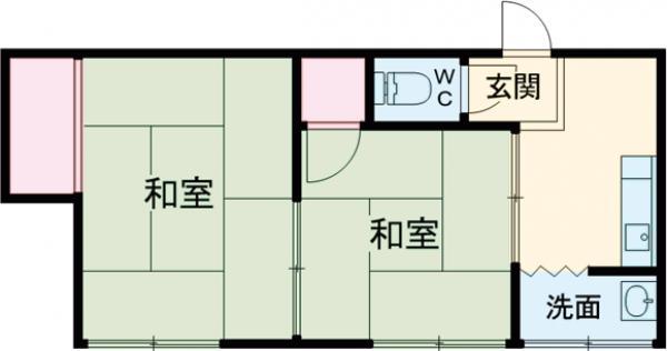 染井荘・201号室の間取り