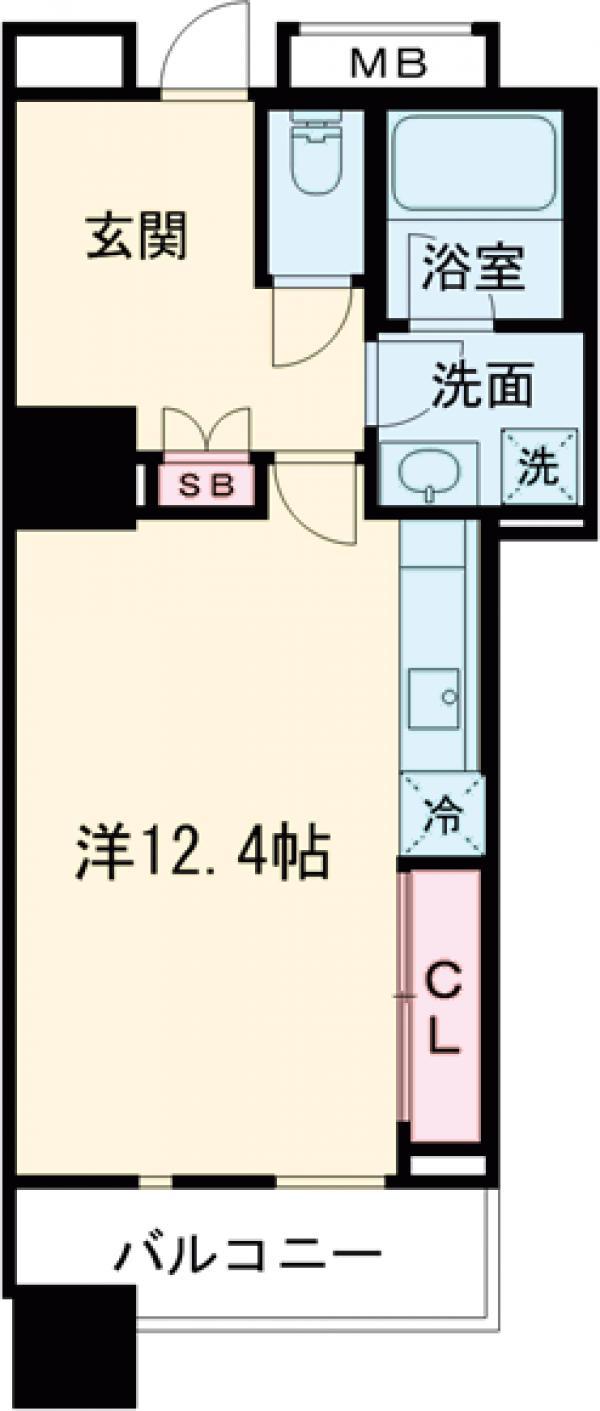 レジディアタワー上池袋 タワー棟・513号室の間取り