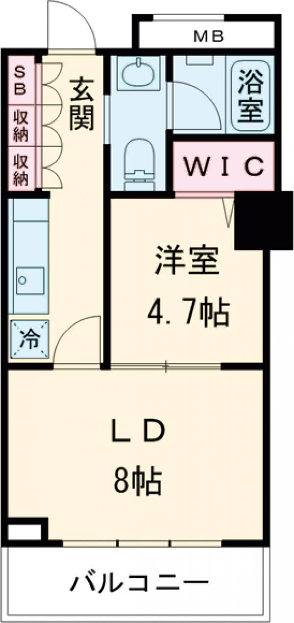 レジディアタワー上池袋 タワー棟・411号室の間取り