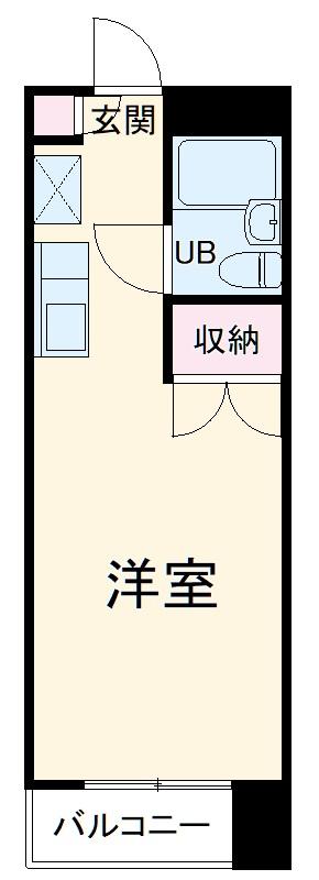 サンシャイン湘南 408号室の間取り