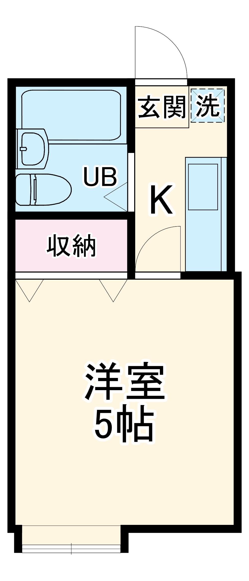 クレスト北戸田Ⅱ・103号室の間取り