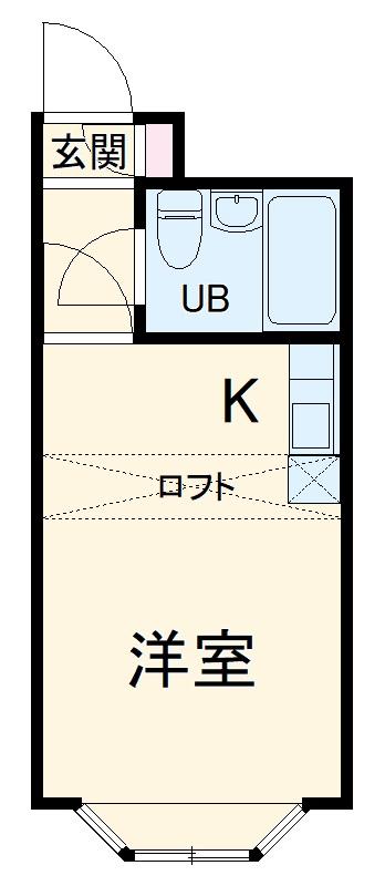 ベルピア京成大久保 106号室の間取り