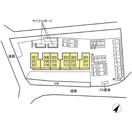 (仮)D-room片峰中央 203号室のその他