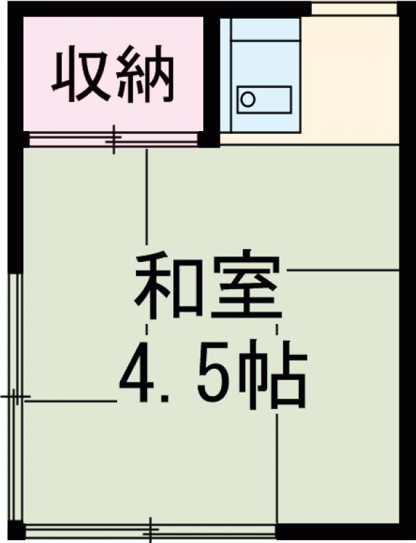 西田荘 201号室の間取り