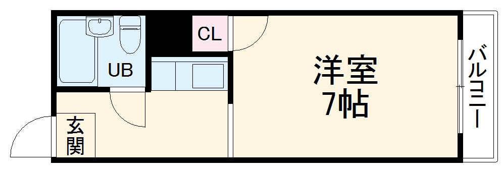 コーポセリーヌ・208号室の間取り