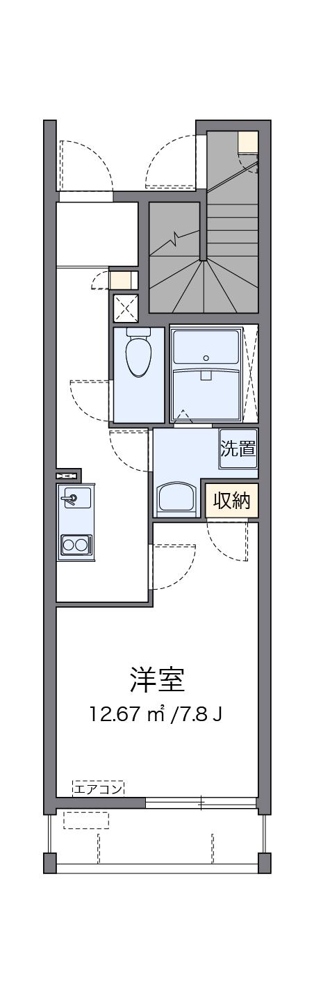 クレイノカーサGOYAⅢ・107号室の間取り