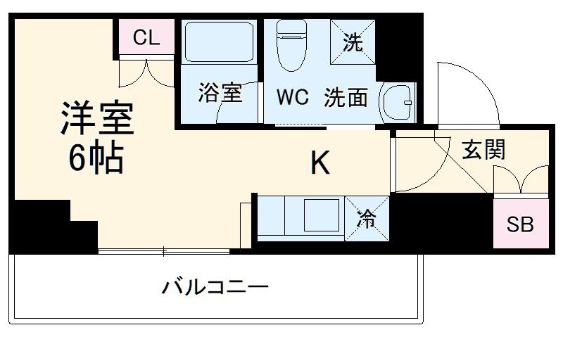 クレヴィスタ横浜・1011号室の間取り