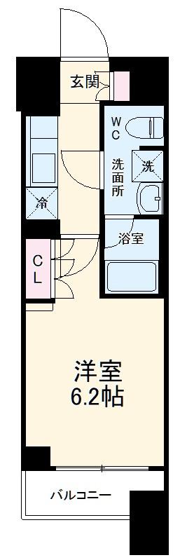 クレヴィスタ横浜・707号室の間取り