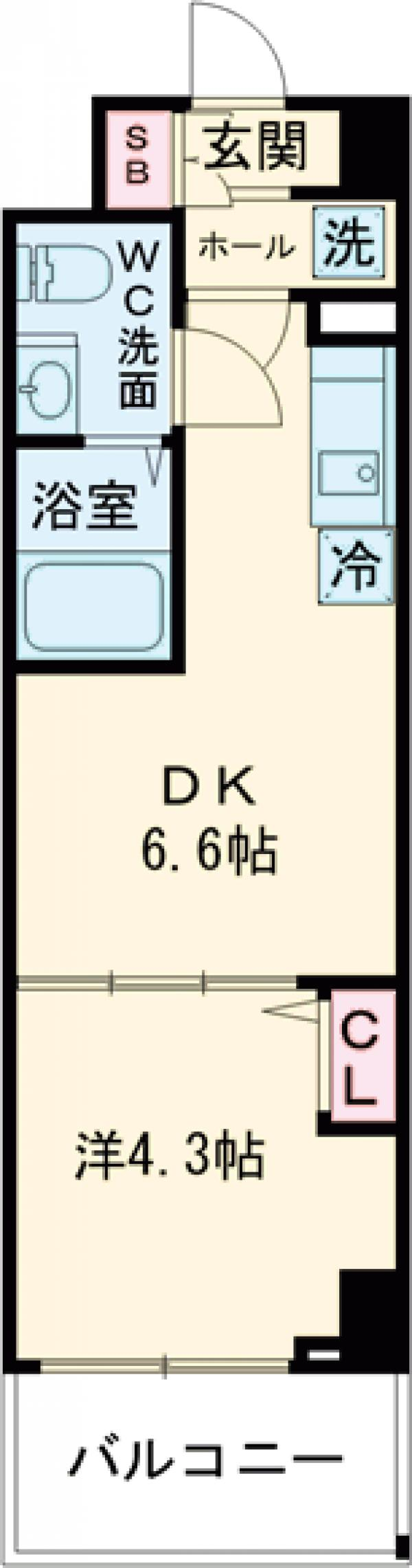 KDXレジデンス梅島・108号室の間取り