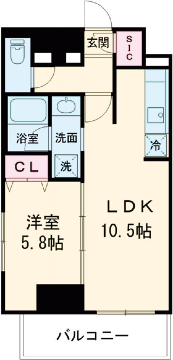 ロイジェント上野桜木・701号室の間取り