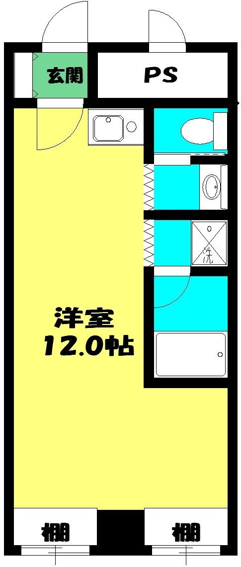 明生ビル・102号室の間取り