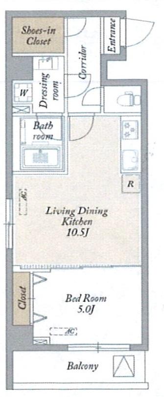 KDXレジデンス梅島・710号室の間取り
