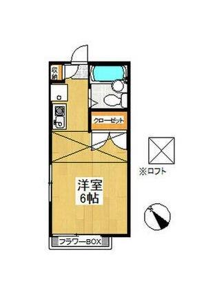 ピュア戸塚・201号室の間取り
