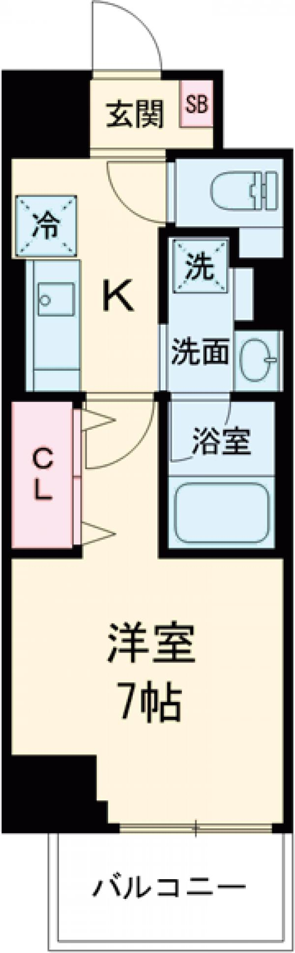 ロイジェント上野桜木・406号室の間取り