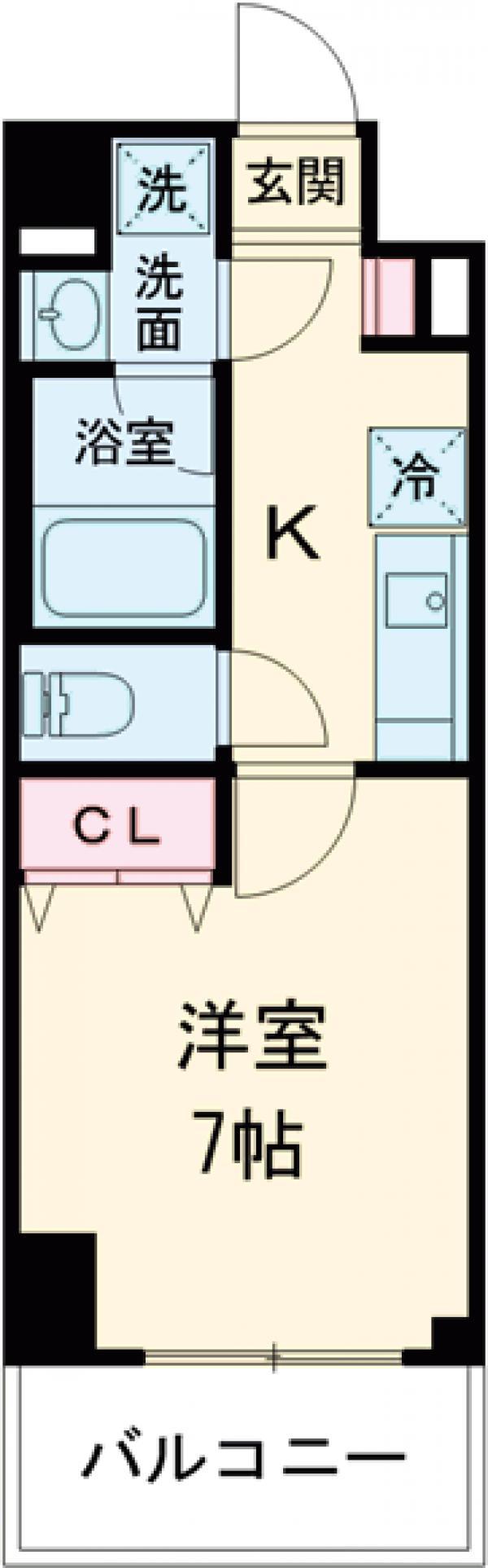 ロイジェント上野桜木・204号室の間取り