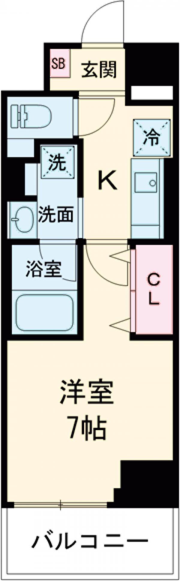 ロイジェント上野桜木・503号室の間取り