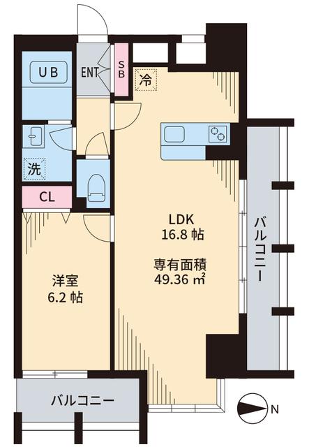 TOKIO国立タワー・901号室の間取り