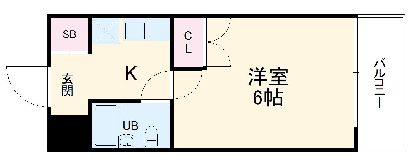 シティパレス平尾駅前P-5・203号室の間取り
