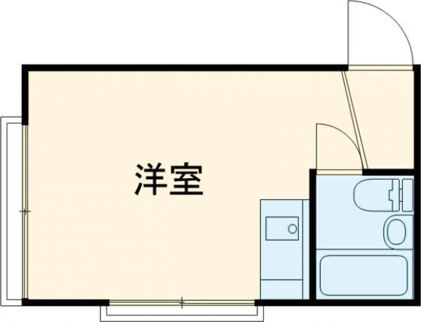 新調布ハイツA号館・101号室の間取り