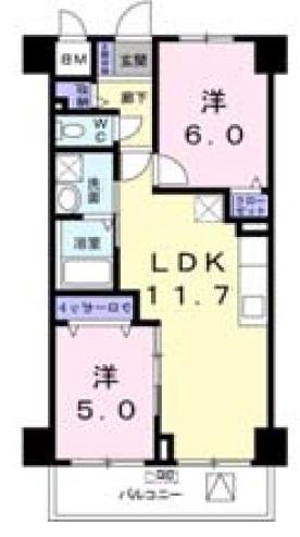菊水レジデンス綱島Ⅰ・02060号室の間取り
