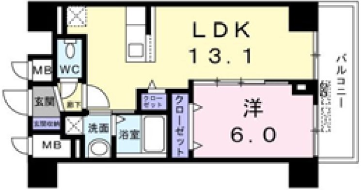 菊水レジデンス綱島Ⅰ・02170号室の間取り