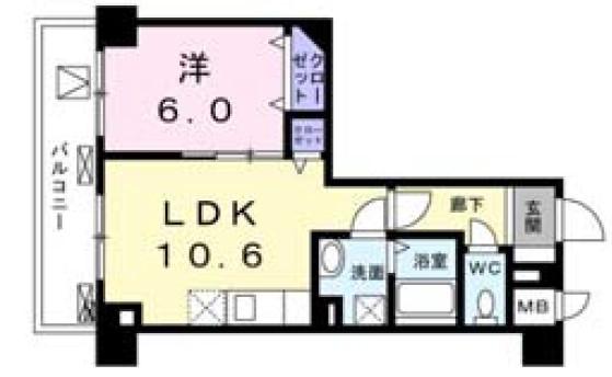 菊水レジデンス綱島Ⅰ・05100号室の間取り